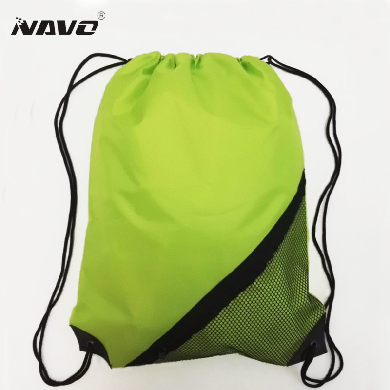 NAVO Mens Zipper Pocket Black Sportpack Gear Bag Womens Draw String Backpack Red Green Blue Black Polyester Drawstring Bags WD01
