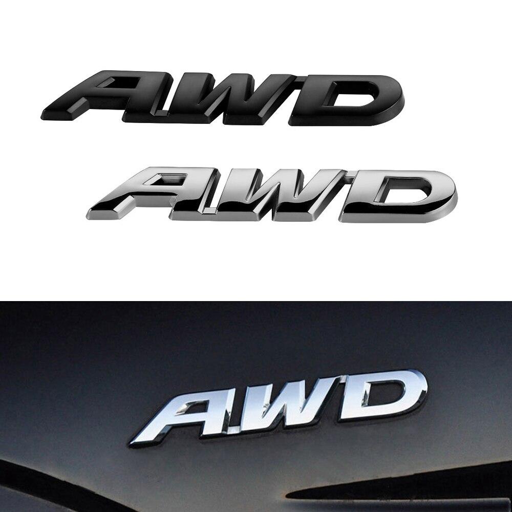 Design car emblem - Car Awd Emblem Suv Rear Sticker Electroplate Awd Fit For Honda Civic Accord Fit Crv Car