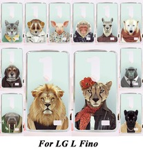 Phone Back Cover For LG L FINO D290 D290N D295 Plastic Phone Case DIY with Cool Animal Tiger Lion Telephone Accessories