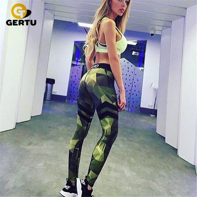 Камуфляж печатные спортивные женские леггинсы сексуальная фитнес леди леггинсы досуг женщины sportes леггинсы