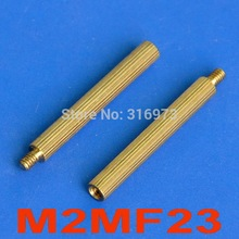 (1000 pcs/lot) 23mm Threaded M2 Brass Male-Female Standoff, Spacer.