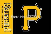Pittsburgh Pirates Wordmark Flag 3ft X 5ft Polyester MLB Pittsburgh Pirates Banner Flying Size No 4