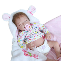22 Lifelike Half Body Vinyl Soft Touch Baby Newborn Sleeping Girl Reborn Dolls Kids Toy with blanket Gift Collection