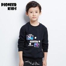 Pioneer Kids 2016 Boys hoodies100% boys hoodies and sweatshirts boys clothing autumn boy winter plus velvet sweatshirt