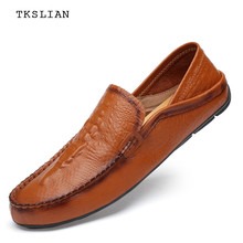 High quality Loafers men flats slip-on casual shoes men genuine cow leather Alligator big size comfortable driving shoes male mycolen spring high quality genuine leather shoes men flats fashion loafers mens flats slip on driving shoes male brand shoes