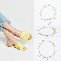 2018 Real New Leg Bracelet Enkelbandje Bracelet Cheville Anklet Foot Jewelry Beach Wedding Bridesmaid Gift Handcrafted Dainty