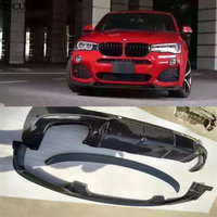 F26 X4 3D style Carbon Fiber car body kit front lip rear diffuser rear spoiler wing for BMW F26 X4 2015 2016