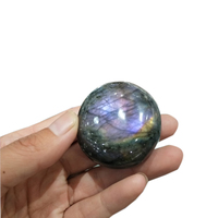 Rare high quality purple Natural labradorite Crystal gemstone palm stone purple color healing chakra polished moonstone