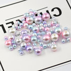 6mm-12mm Multicolor ABS vintage style smooth Round pearls with holes Resin Loose Beads pearls Necklace bracelet DIY accessories