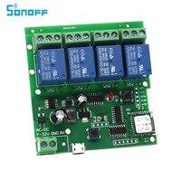 SONOFF USB 5V Or DC 7V 32V DIY 4 Channel Jog Inching Self Locking WIFI Wireless