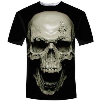 3D skull soul chariot Rock T-shirt