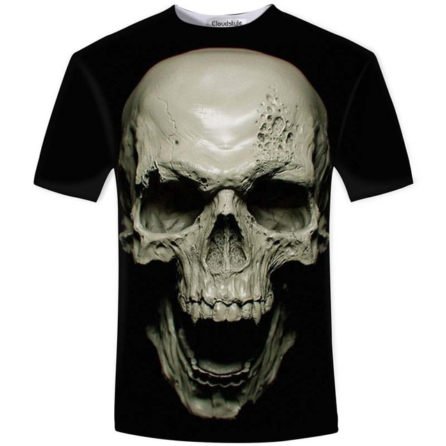 Summer 3D Skull Rock Shirt