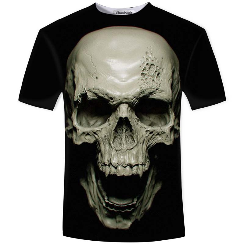 Cloudstyle New Hot Men Estate 3D maglietta Street Fashion models love fashion skull soul chariot Rock T-shirt Uomo Abbigliamento