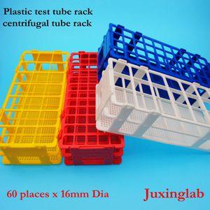 실험실 조립 테스트 튜브 랙 60 장소 x 16mm 직경, 플라스틱 테스트 튜브 랙 테스트 튜브 선반 for15ml 원심 튜브 랙