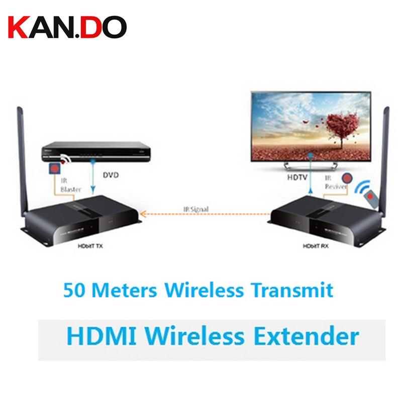 388 50M/164Ft Wireless HDbitT HDMI 1080P Extender Transmitter&Receiver Repeater,Wireless HDMI HDbitT Transmitter Reciver Kit