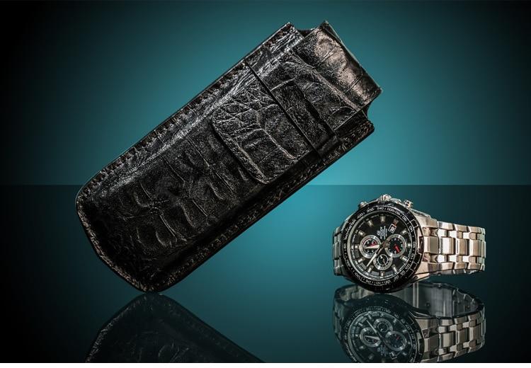Topanta e lartë e shikimit të vetëm prej lëkure Moda Watch Black - Aksesorë për orë - Foto 4