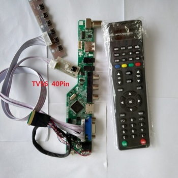 kit for LP156WH4(TL)(C1) TV AV LCD LED 1366X768 15.6 40pin LVDS Screen panel HDMI USB Controller board driver remote VGA for nt156whm n12 edp hdmi kit vga led edp 1366x768 15 6 30pin controller board screen display monitor driver lcd diy