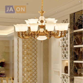 led e14 American vintage Zinc Alloy Glass LED Chandelier Chandelier Lighting LED Light LED Lamp For Foyer Dinning Room