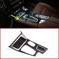 Oak Wood Colour For BMW 5 Series F10 2014 2017 520li 525li 530li ABS Center Console Gear Shift Panel Cover Trim Car Accessories