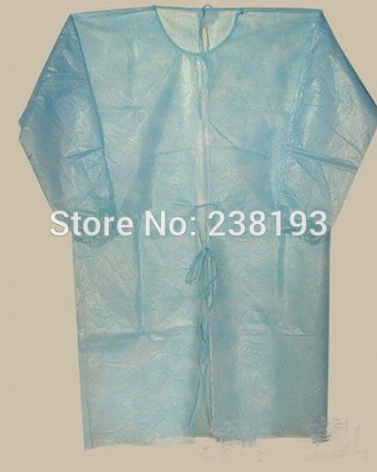 50 pcs Disposable surgical gown thin and light dust clothes , overalls visit ,Non-woven aprons, clothing.clean