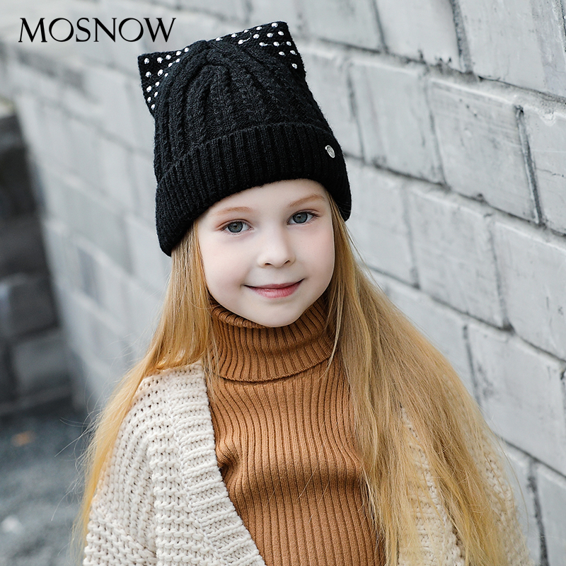 MOSNOW Hats For Girls Caps Children Brand New Fashion 2018 Hot Sale High Quality Knitted Warm   Beanies     Skullies   Bonnet #MZ851