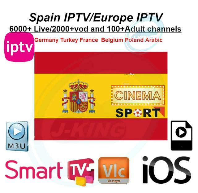 España IPTV canal español M3u Abonnement Iptv Reino Unido Italia Spaans Francia, Alemania, Portugal, Voor Android caja de Enigma2 m3u Smart TV PC