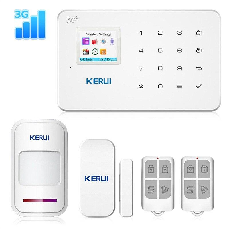 KERUI Новый G183 WCDMA 3g беспроводной домашней безопасности GSM 3g Сигнализация приложение пульт дистанционного управления охранная сигнализация Pir...