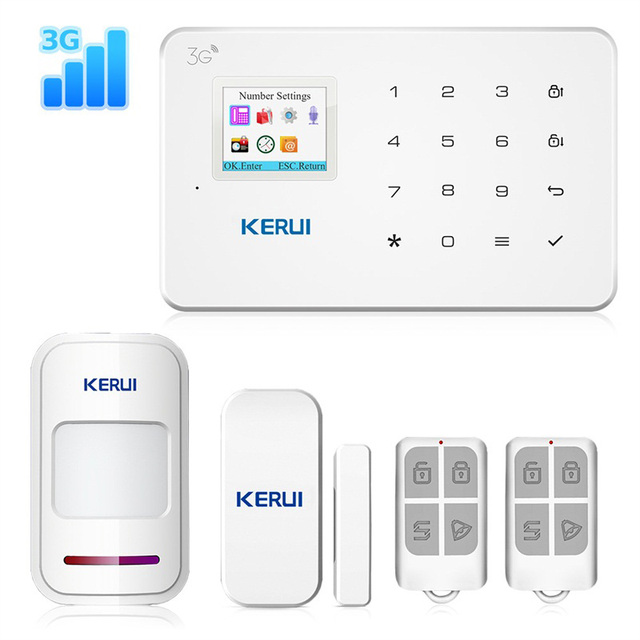 KERUI חדש G183 WCDMA 3 גרם אלחוטי אבטחת בית GSM 3 גרם מעורר מערכת APP מרחוק בקרת פורץ Pir תנועת חיישן מעורר