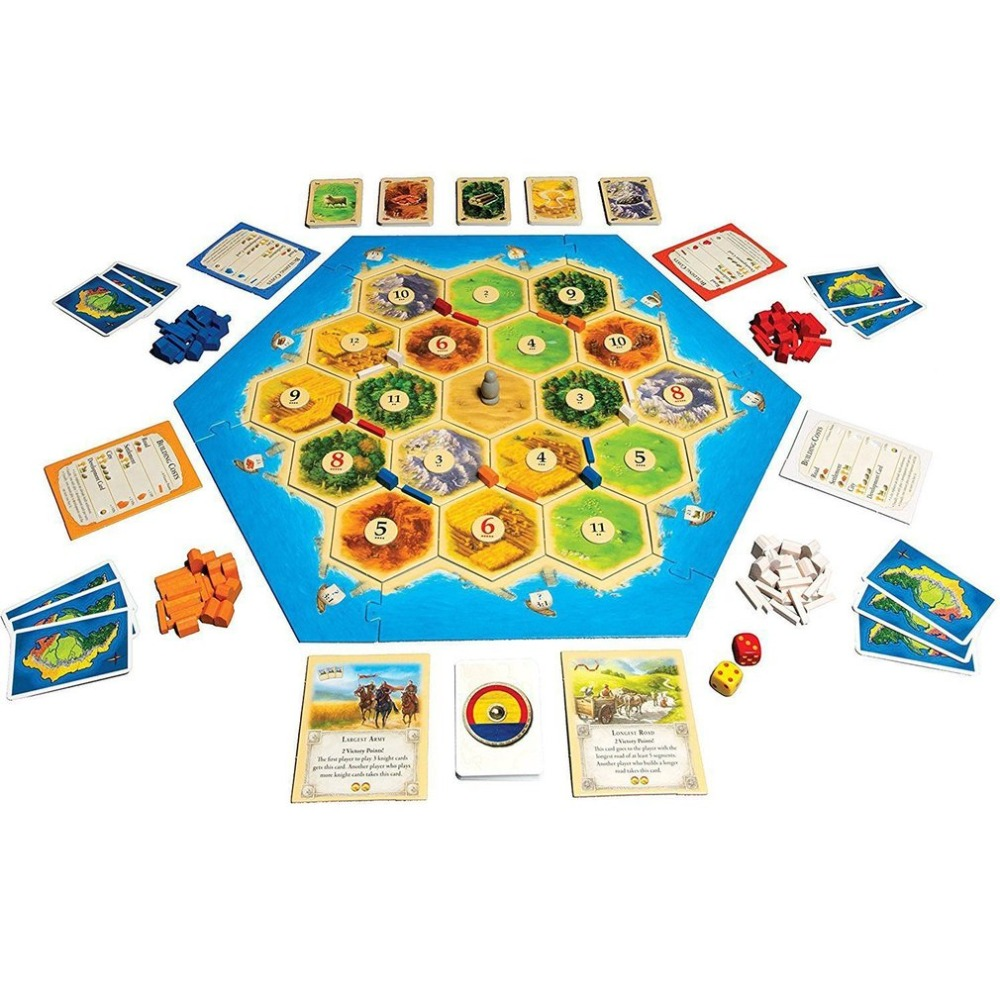 OUTAD Catan Board Game Family Fun Playing Card Game Toys Educational Theme English Indoor Side Table Party Supplies Dropshipping