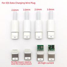 chenghaoran type c usb plug male connector black white welding data otg line interface diy data cable accessories type c 5sets USB For iphone male plug with chip board connector welding 2.6/3.0mm Data OTG line interface DIY data cable adapter parts