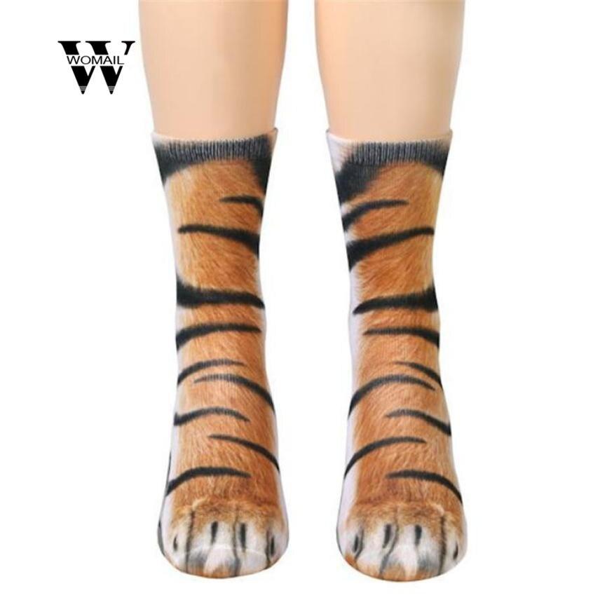 1 et par fra 6 til 12 år For børn pote dyr sokker crew sublimation print 3D dyr Salgsleder Spring mode Ny januar 16