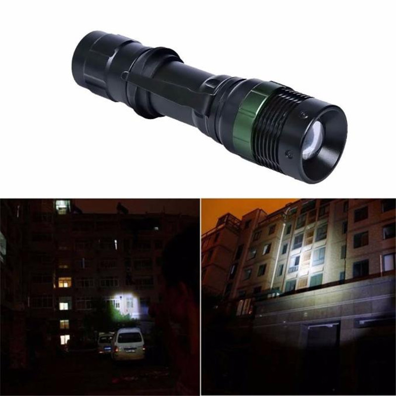 3000 Lumen Zoomable CREE XM-L Q5 LED Flashlight Torch Zoom Super Bright Light