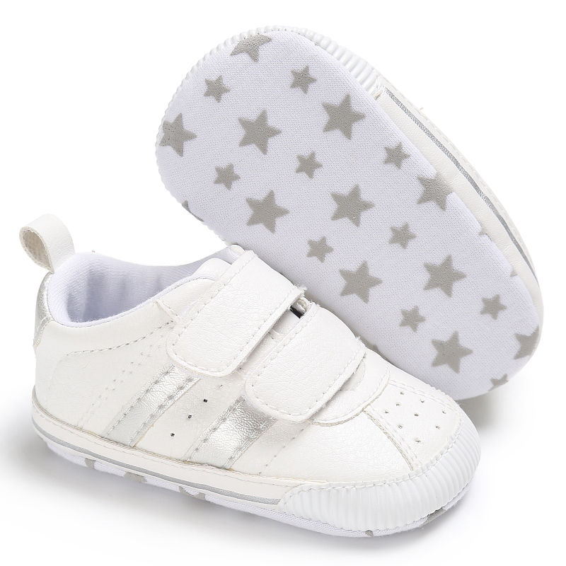 164fb38b61d295 2019 Newborn Shoes Infant Toddler Soft Sole Hook Loop Prewalker ...