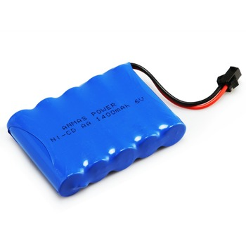 1-5Pack 6V 1400mAh RC Battery Ni-Cd Battery SM 2Pin Plug AA Rechargeable Battery