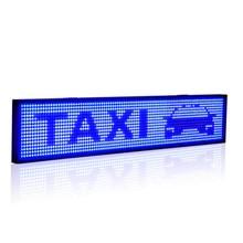 20x4 дюймовый SMD P5 светодиодный модуль знака программируемый прокручивающийся синий светодиодный дисплей с металлической цепью для помещений и улицы рекламы