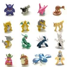 4cm Rayquaza Mewtwo Gengar Dialga figurki New arrival akcja i figurki do zabawy kolekcja zabawka pks