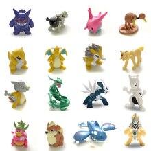 Rayquaza figuras de acción y juguetes, 4cm, Mewtwo Gengar, juguete de colección, pks