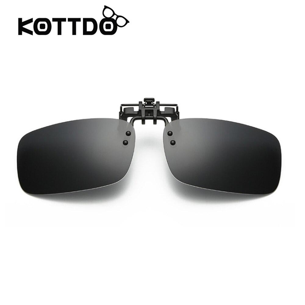 06454acacc Polarized Sunglasses Clip Lenses Flip Up On Glasses For Driving Super Light  For Men Women Myopic Wearer Sunglasses Lens Only 7g-in Sunglasses from  Apparel ...