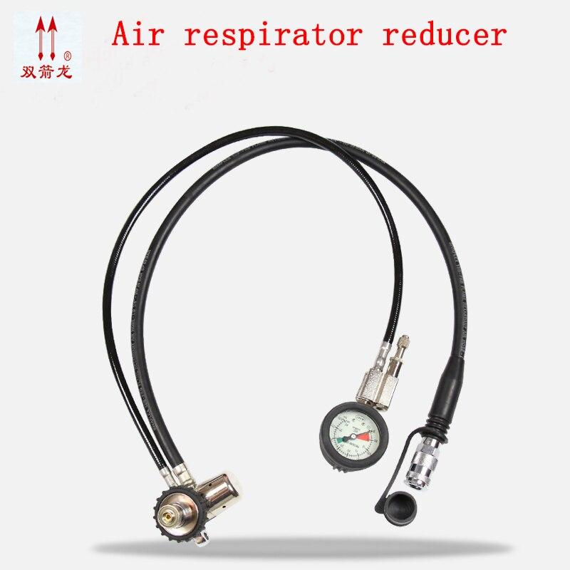 Air respirator Pressure reducer full face respirator Oxygen supply system Adjust the alarm Positive pressure respirator free shipping jwdox 1 oxygen pressure reducer oxygen gas regulator o2 regaultor