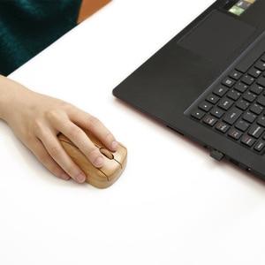 Image 5 - 2,4G Беспроводная оптическая бамбуковая мышь 3 Регулируемая DPI компьютерная мышь с usb приемником для ноутбука, компьютера, офиса
