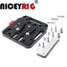 NICEYRIG Camera Rig Batterij Plaat V Lock Montage Kit Quick Release Set Base op de Standaard V Lock foto Camera Accessoires