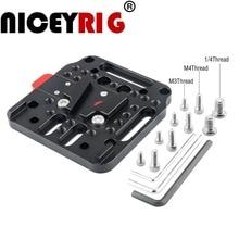 Niceyrig câmera equipamento placa de bateria v lock conjunto kit de liberação rápida base no padrão v lock foto acessórios da câmera