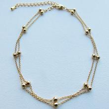 OTOKY высокое качество милые золото двойной цепной браслет украшения для щиколотки стопы босиком пляж ножной браслет Jul26