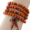 108 Pieces Beads 8mm Natural Sandalwood Buddhist Buddha Wood Prayer Bead Mala Bracelets for Women Unisex Men Pulseras Mujer