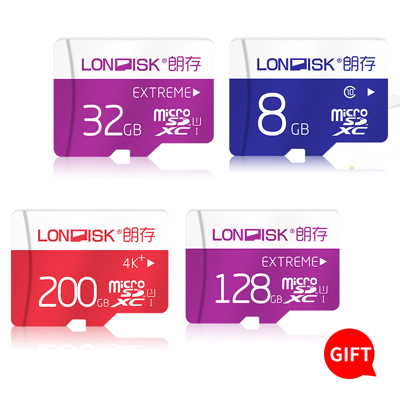 Londisk MicroSD Card 32GB 64GB 128GB Class10UHS1 200GB Memory Card Flash Memory Card  Micro sd TF Card for Smartphone Pad Camera samsung new evo memory card 16gb 32gb sdhc 64gb 128gb 256gb sdxc tf flash card micro sd cards uhs i class10 c10 u3 free shipping