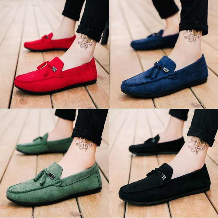 New Peas Shoes Men's Personality Lazy Comfortable Men's Shoes Casual Shoes Zapatos De Hombre Men Loafer Sneakers Loafers