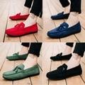 Novos sapatos de ervilhas personalidade dos homens preguiçoso confortável sapatos casuais sapatos masculinos zapatos de hombre mocassins