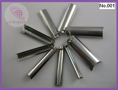 50 PCS/ LOT EASY Q French Metal Nail Cutter Edge Smile Line Trimmer Template