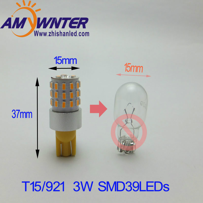 High Power W16W Lights W5W T10 LED 194 921 3014leds WY16W LED Bulbs Compatible with LED Garden lights marker lamps for cars