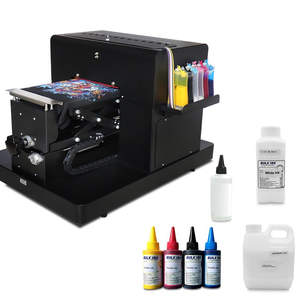A4 Flatbed Printer For Print T Shirt Digital DTG Printer For Textile T Shirt Printing Machine With Textile Ink